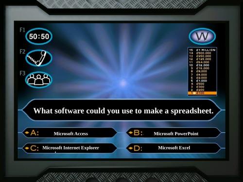 Spreadsheet WWTBAM
