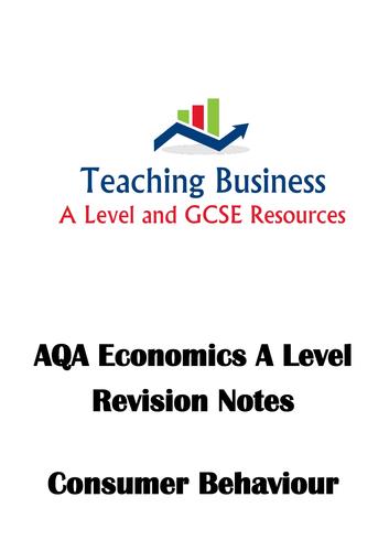 AQA Economics - Consumer Behaviour