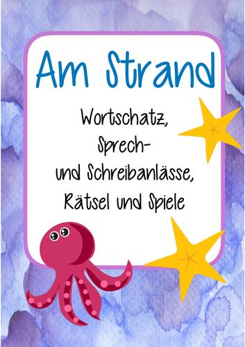Am Strand - Mega Sommer Set! Deutsch / German Übungen: Sprechen ...