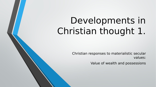 A Level RS AQA Secularisation: Developments in Christian thought