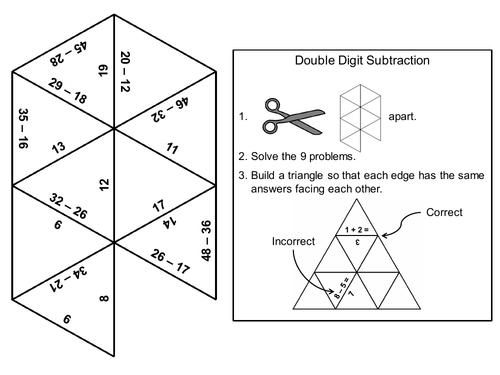 Double digit subtraction with and without regrouping game math double digit subtraction with and without regrouping game math tarsia puzzle by sciencespot teaching resources tes ccuart Gallery