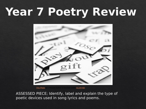 KS3 Poetry review