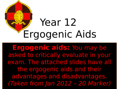 OCR A Level PE- Ergogenic Aids