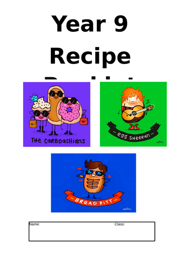 RECIPE BOOK FOR YEAR 9'S