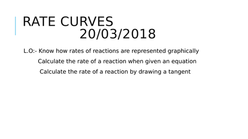 Working out rates of reaction