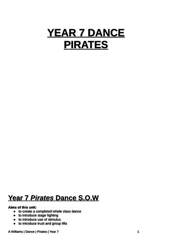 KS3 Dance Pirates Scheme of Work