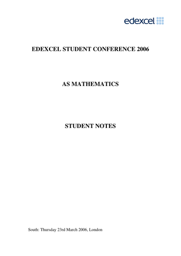 Maths A-Level:  C1 and C2 Revision Sheets
