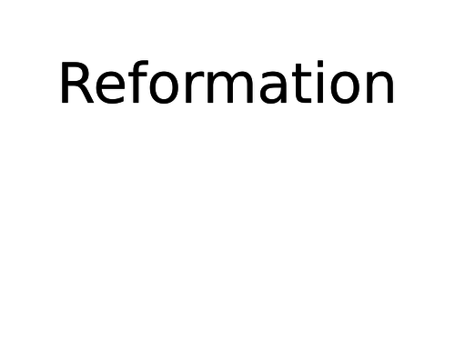 Revision: Henry and his ministers flash cards - The Reformation