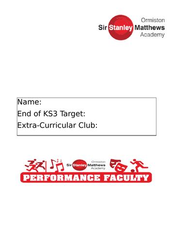 P.E KS3 Assessment Booklet and Tracker