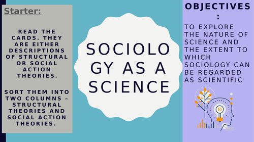 AQA A2 Sociology- Theory and Methods: Sociology As a Science