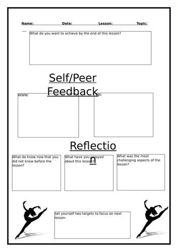 Dance - Lesson Assessment worksheet