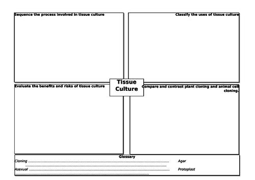 Tissue culture summary