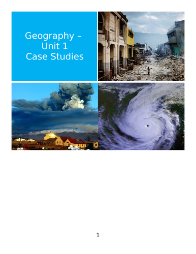 Natural Hazards Case Studies (Hurricane / Cyclone / Earthquake / Exam Questions)