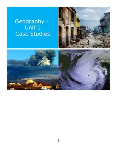 Natural Hazards Case Studies (Hurricane / Cyclone / Earthquake / Exam Questions)