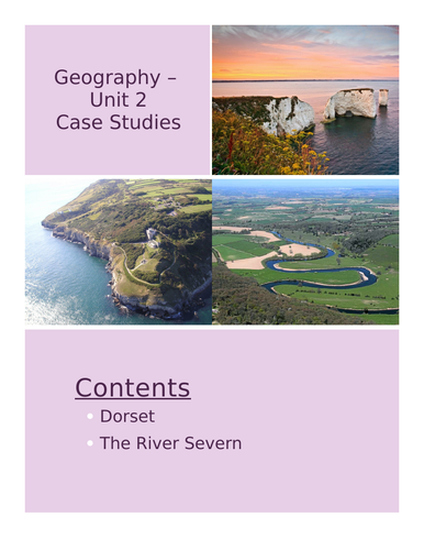Rivers and Coasts Case Studies (Swanage / River Severn / Storm Hydrograph)