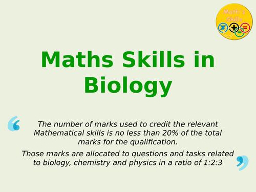 Maths Skills in Biology