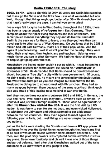 BUilding the Berlin Wall - Berlin 1958-1961