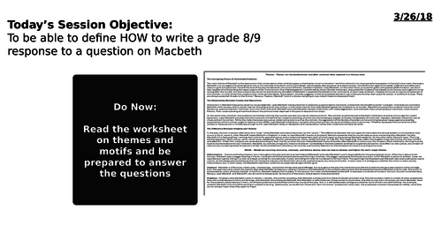 AQA GCSE Literature (1-9) - Macbeth - paper 1, section A - Getting to 8s and 9s