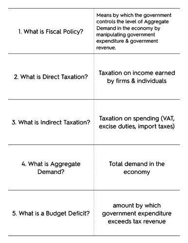 Fiscal Policy Flashcards
