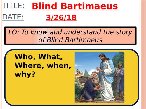 Jesus' miracles: Blind Bartimaeus