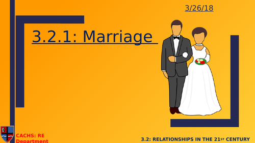 GCSE RS: Catholic Christianity- Marriage
