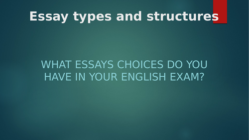 Oxford AQA exam essay comparisons