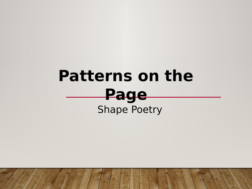 Shape Poetry Presentation and Poem template