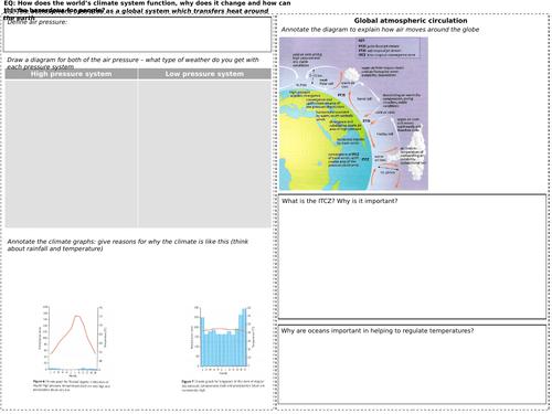 GCSE Edexcel B (2016) Geography revision sheets Topics 1 - 5 including case studies