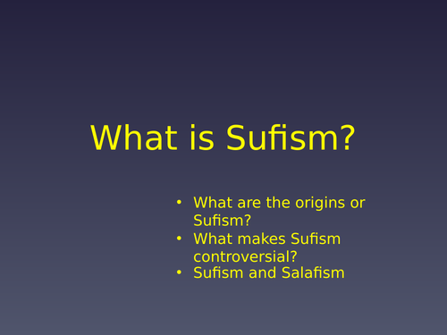 OCR AS Sufism ppt
