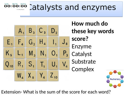 Topic 2 Catalysts and enzymes AQA trilogy