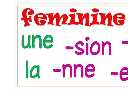 Starts and Endings for Feminine Nouns