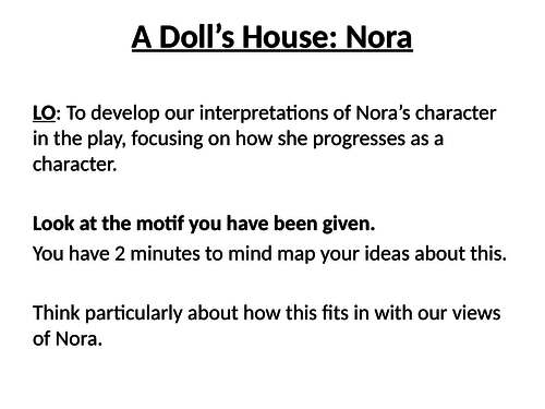 A Doll's House - Nora