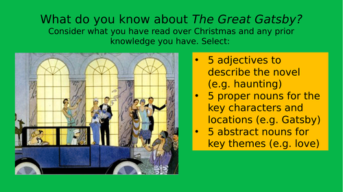 The Great Gatsby - full unit of work for A level