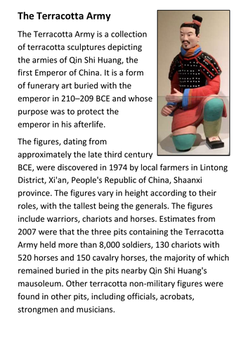 The Terracotta Army Handout