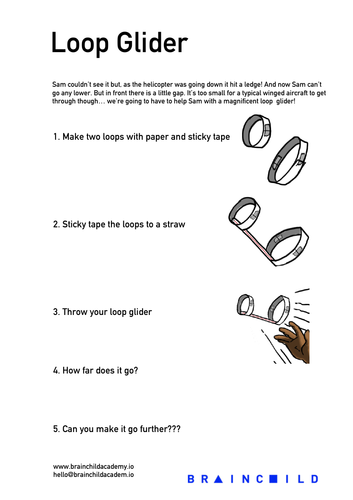 Loop Glider Activity Sheet