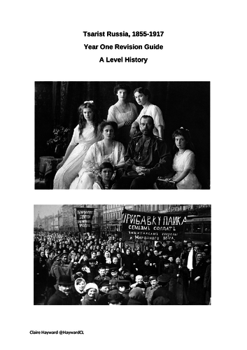1H Russian Revolution Revision Booklets