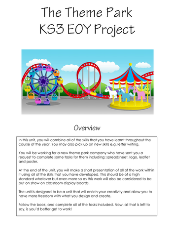Theme Park Project Booklet