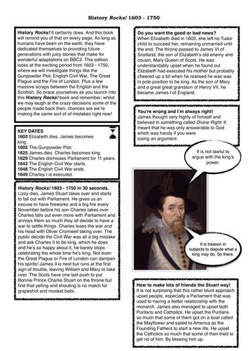 James I, Charles I & Cromwell