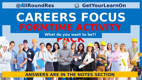 @AllRoundRes CAREER FOCUS TUTOR-TIME BASED ACTIVITIES #5DaysAWeek