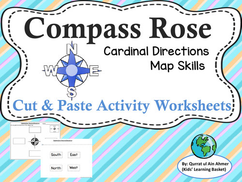 Compass Rose Cardinal Directions Cut&Paste Worksheets