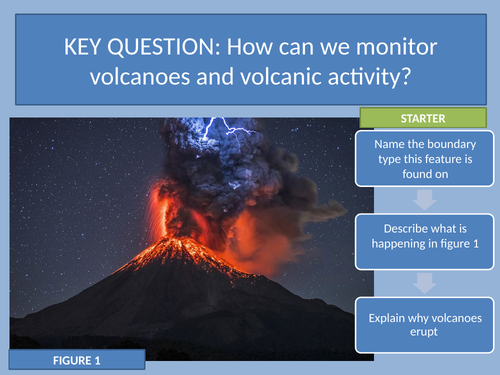 Monitoring Volcanic activity - with flash card activity