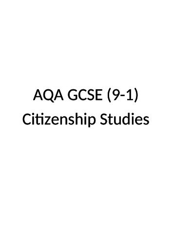 AQA Citizenship GCSE Life in Modern Britain Revision Guide