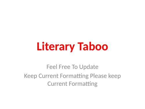 Literary Taboo
