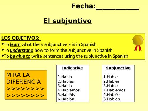 GRAMMAR - Subjunctive/Imperfect subj