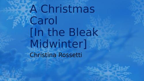 Christina Rossetti: A Christmas Carol