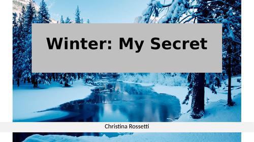 Christina Rossetti: Winter My Secret