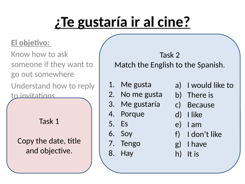 Te Gustaria Ir Al Cine Asking People Out Teaching Resources