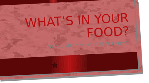 Author's Bias: What's In Your Food