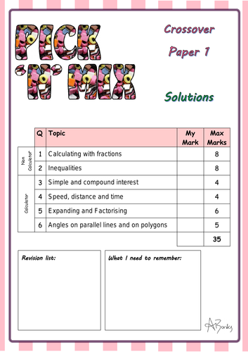 Pick 'n' Mix papers - Crossover