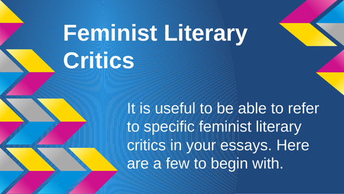 Introduction to Feminism and Feminist Criticism for AQA Lit B
